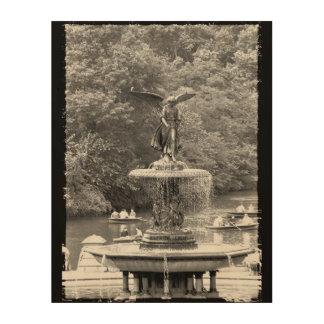 Impression Sur Bois Central Park NYC d'ange de Bethesda