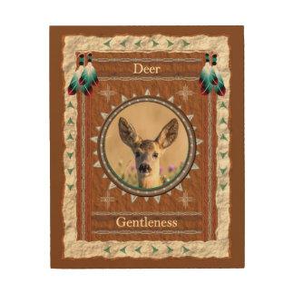 Impression Sur Bois Cerfs communs - toile en bois de gentillesse