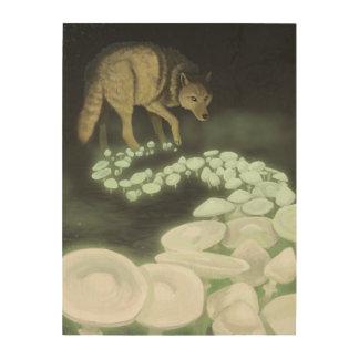 Impression Sur Bois Champignons de remorquage de la mort de loup