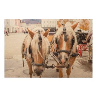Impression Sur Bois Chariot | Autriche de cheval