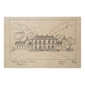 Impression Sur Bois Château Prieure-Lichine, Margaux, Bordeaux