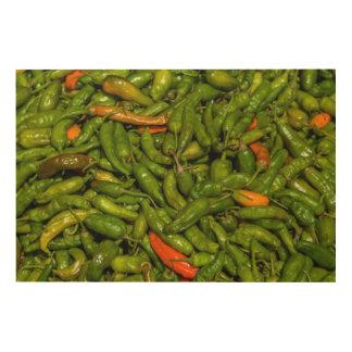 Impression Sur Bois Chilis à vendre au marché