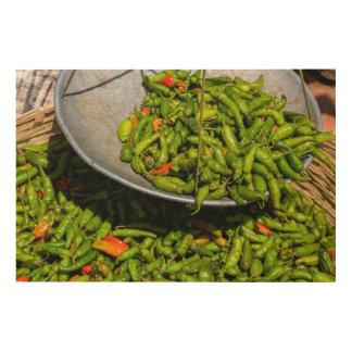 Impression Sur Bois Chilis au marché à vendre