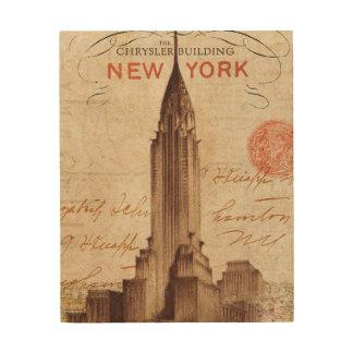 Impression Sur Bois Chrysler vintage construisant à New York