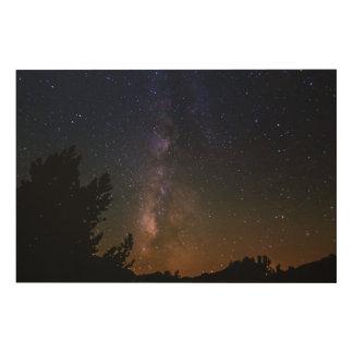 Impression Sur Bois Ciel nocturne de manière laiteuse, la Californie
