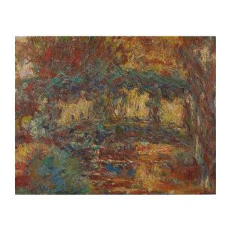 Impression Sur Bois Claude Monet   le pont japonais