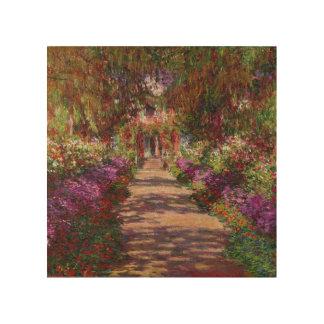 Impression Sur Bois Claude Monet | une voie dans le jardin de Monet