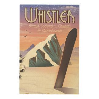 Impression Sur Bois Colombie-Britannique de Whistler faisant du surf
