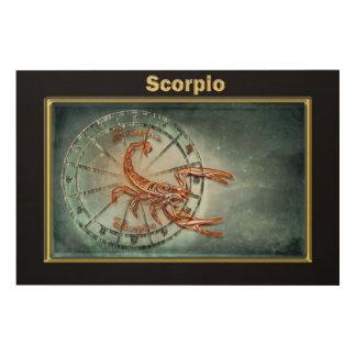 Impression Sur Bois Conception d'astrologie de zodiaque de Scorpion