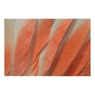 Impression Sur Bois Conception de plume de cacatoès rose