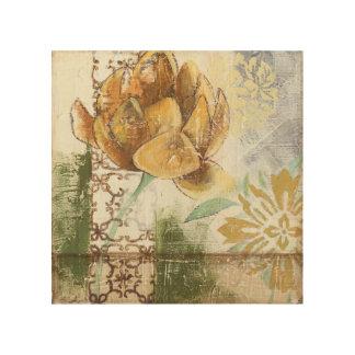Impression Sur Bois Conception décorative de fresque avec la fleur de