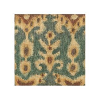 Impression Sur Bois Conception décorative de tissu d'Ikat de Chariklia
