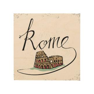 Impression Sur Bois Conception en lettres de main de Rome