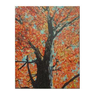 Impression Sur Bois Conception majestueuse de mosaïque d'arbre