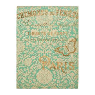 Impression Sur Bois Conception vintage d'or de Paris avec le papillon