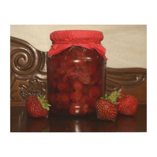 Impression Sur Bois confiture de fraise