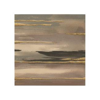Impression Sur Bois Copie abstraite dorée d'or du brouillard II de