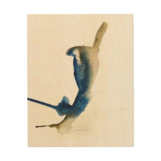 Impression Sur Bois Copie d'aquarelle de geai bleu par Oliver sur le