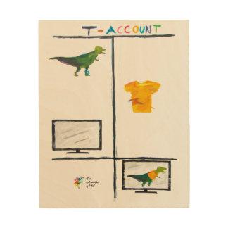 Impression Sur Bois Copie en bois d'art drôle de comptabilité -