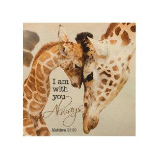 Impression Sur Bois Copie en bois de girafe
