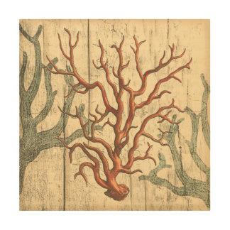 Impression Sur Bois Corail en bois et petit