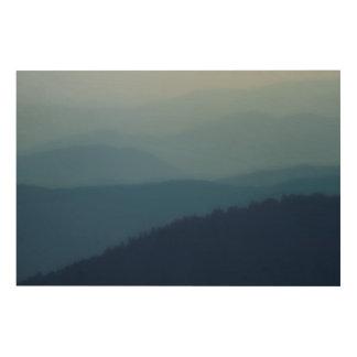 Impression Sur Bois Couches bleues