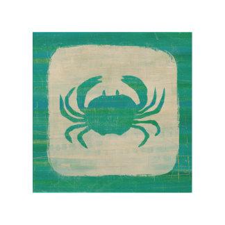 Impression Sur Bois Crabe côtier d'Aqua de |
