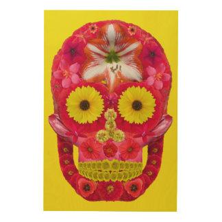 Impression Sur Bois Crâne 6 de fleur
