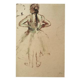 Impression Sur Bois Danseur d'Edgar Degas | vu du dos