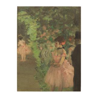 Impression Sur Bois Danseurs d'Edgar Degas | à l'arrière plan,