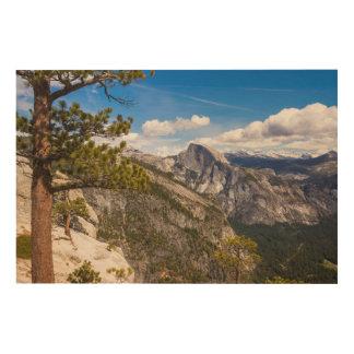 Impression Sur Bois Demi de paysage de dôme, la Californie