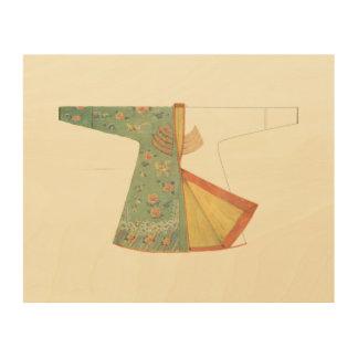 Impression Sur Bois Dessin de kimono demi-fini