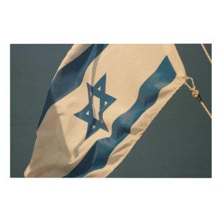 Impression Sur Bois Drapeau israélien