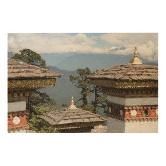 Impression Sur Bois Druk Wangyal Chortens