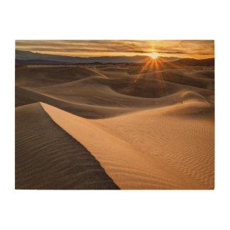 Impression Sur Bois Dunes de sable d'or, Death Valley, CA