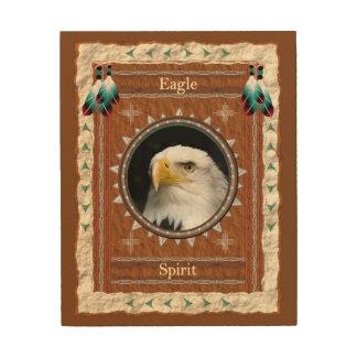 Impression Sur Bois Eagle - toile en bois d'esprit
