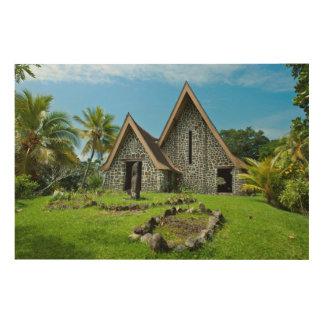Impression Sur Bois Église en pierre en île de Kwato