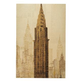 Impression Sur Bois Empire State Building NYC