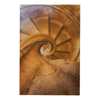 Impression Sur Bois Escalier de haut en bas de spirl, Portugal