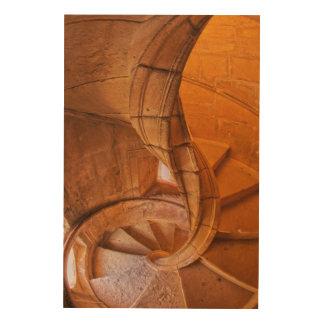 Impression Sur Bois Escalier en spirale tordu, Portugal