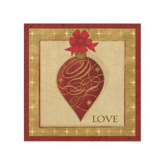 Impression Sur Bois Espoir rouge de DŽcor de Noël
