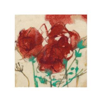 Impression Sur Bois Expression I de fleur