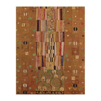 Impression Sur Bois Extrémité de mur, frise de Stoclet, Klimt, motif