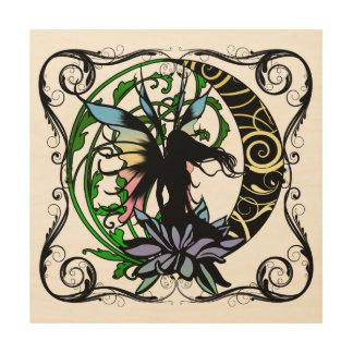 Impression Sur Bois Fée d'ombre de Lotus