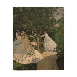 Impression Sur Bois Femmes de Claude Monet | dans le jardin, 1866