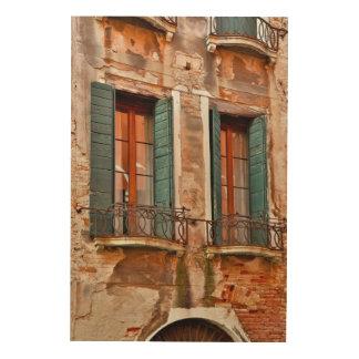 Impression Sur Bois Fenêtre dans le bâtiment de Venise