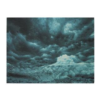 Impression Sur Bois Fermez-vous de la glace bleue, Islande