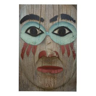 Impression Sur Bois Fermez-vous d'un totem découpé