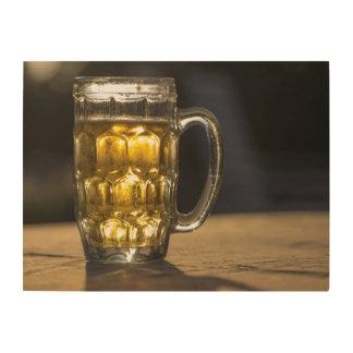 Impression Sur Bois Fin de boisson en verre de bière, l'Inde