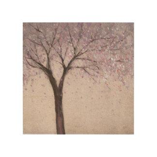 Impression Sur Bois Fleur II de ressort